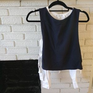 Zara two-piece contrast top